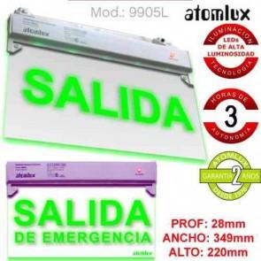 Luz de Emergencia Salida Led Atomlux -  Modelo 9905L